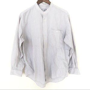 Yves Saint Laurent Collarless Button Up Shirt
